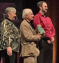 Erik Storlie receives Spirit of the Center Award award in 2018